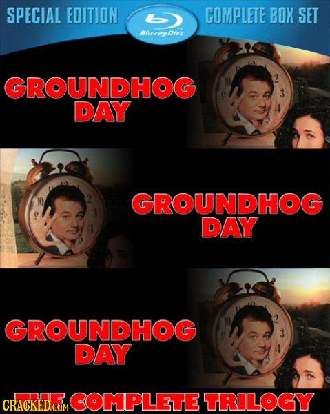 SPECIAL EDITION COMPLETE BOX SET Blu-ryDise isc GROUNDHOG DAY GROUNDHOG DAY GROUNDHOG DAY MCOMPLETE TRILOGY CRACKED.COM