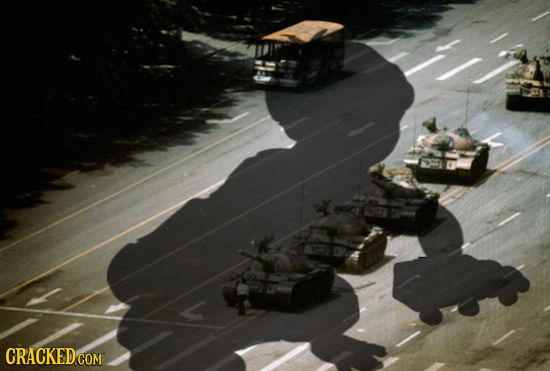 26 Iconic Photographs Changed by Adding a Single Shadow