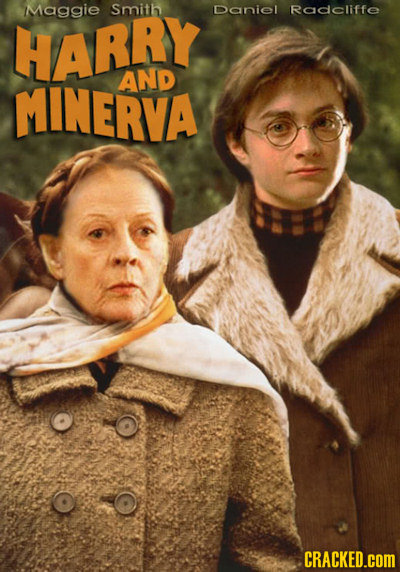 Maggie Smith Daniel Radcliffe HARRY MINERVA AND CRACKED.COM