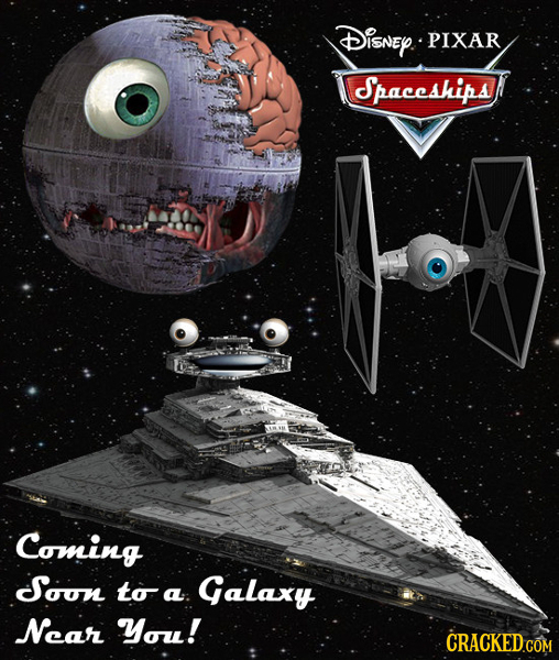 DISNEY PIXAR Spaceships Coming Soon to Galaxy a Ncar You! CRACKED COM