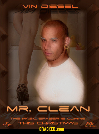 VIN DIESEL MR. CLANN THE MAGIC ERASER IS5 COMINGS THIS CHRRISTMAS PeG im stdios CRACKED.cOM
