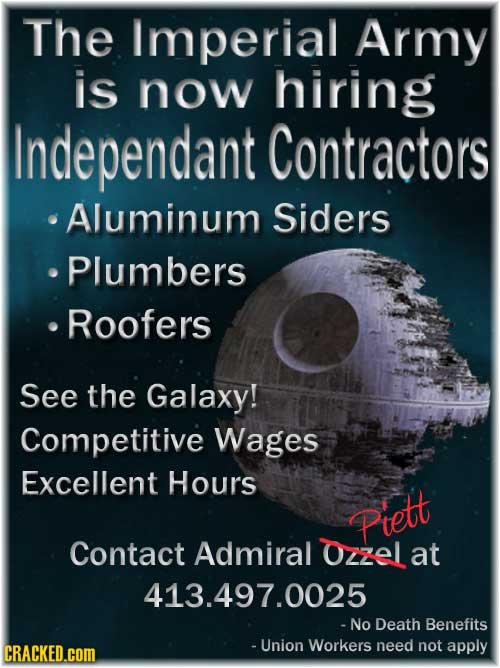 Recruitment Posters for the Worst Jobs Ever