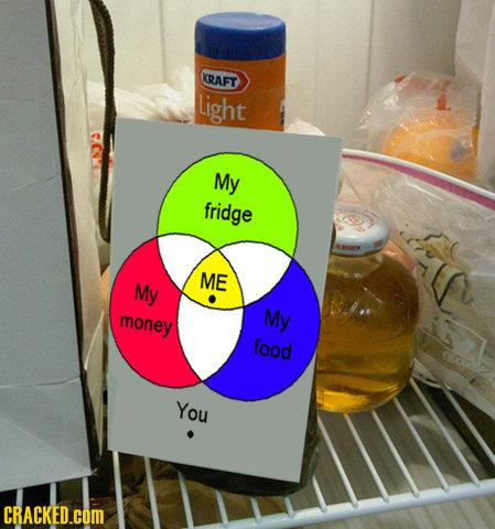 KRAFT Light My fridge ANOIM ME My money My food You CRACKED.COM