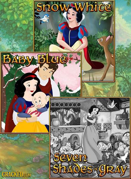 Snow White BABy BLUe OOOOOOO Seven Shades of gRAY