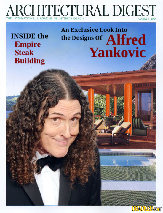 ARCHITECTURAL DIGEST THE INTERNATIONAL MAGAZINE OF INTERIOR DESIGN AUGUST 2004 An Exclusive Look Into INSIDE the the Designs Of Alfred Empire Steak Ya