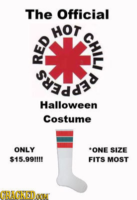 The Official HOT CHIL RED Halloween Costume ONLY *ONE SIZE $15.99!! FITS MOST GRAGKEDON CON