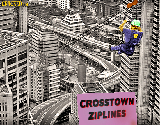 CRAOKEDCO in Hrirs CROSSTOWN ZIPLINES