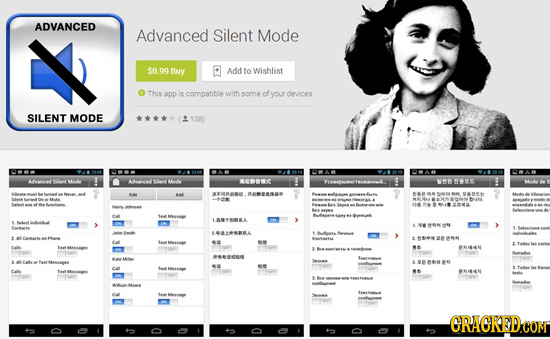 ADVANCED Advanced Silent Mode $0.99 Buy Add to Wishlist This app is compatible with some of your dovices SILENT MODE ****(2138) Lwent Aw SAat Mlle SRN