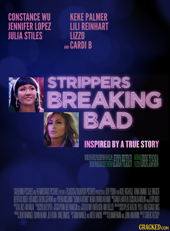CONSTANCE WU KEKE PALMER JENNIFER LOPEZ LILI REINHART JULIA STILES LIZZO CARDI B AND STRIPPERS BREAKING BAD INSPIRED BY A TRUE STORY SUVERMUPCTURESAN