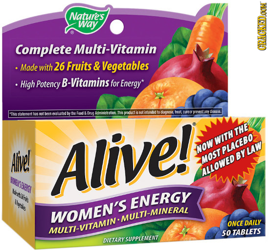 Nature's way Complete Multi-Vitamin CRACKEDOON .Made with 26 Fruits & Vegetables High Potency B-Vitamins for Energy* the Food THS any diseast. This st
