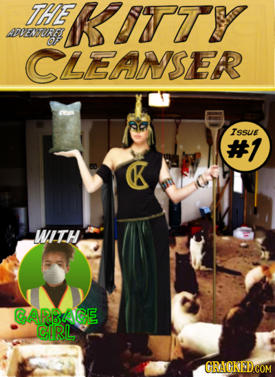 THE UITY ADVEMURE CLEANSER ISSuE #1 B K WITH GARBAGE GIRL CRACGKEDCOM