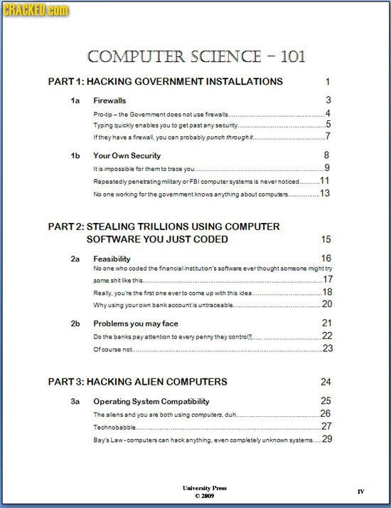 HRACKEDCOD COMPUTER SCIENCE 101 PART 1: HACKING GOVERNMENT INSTALLATIONS 1 1a Firewalls 3 Pro-tip - Govemment 4 doesnot use firewalls Typing quickly 5