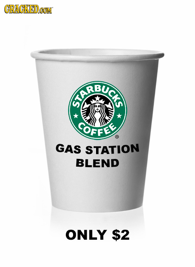 CRACKEDOON EREUC COFFEE GAS STATION BLEND ONLY $2