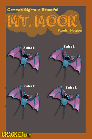 Common Sights in Beautiful MT. MOON Kanto Region Zubat Zubat Zubat Zubat CRACKEDCON COM