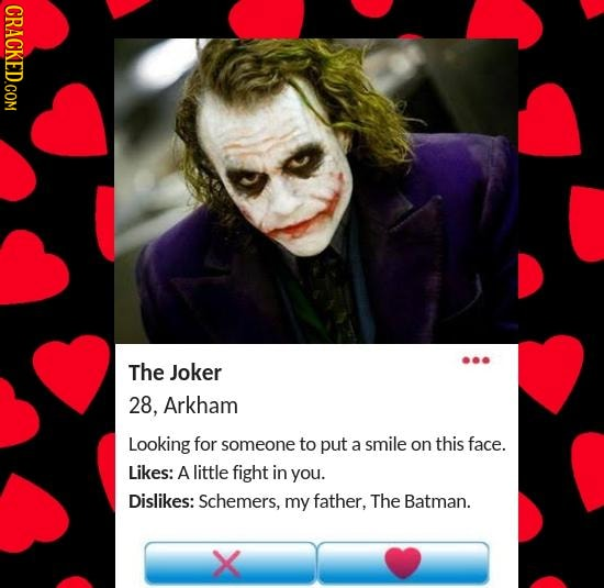 How Movie/TV Villains Would Look On The Dating Scene, IRL