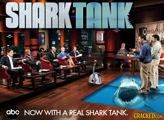 SHARKTANK QRIGAU RIG abc NOW WITH A REAL SHARK TANK. CRACKED COM
