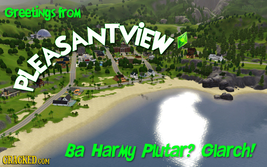 Greetings from uelsanIViy SANTVIEW Ba Harmy Plutar? Glarch! CRACKEDCON