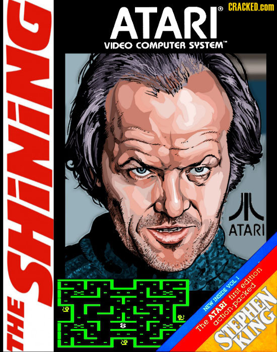 ATARI CRACKED.cOM O VIDEO COMPUTER SYSTEM JN ATARI edition IsI INSIDE -packed NEW action The STEPHEN KING THE