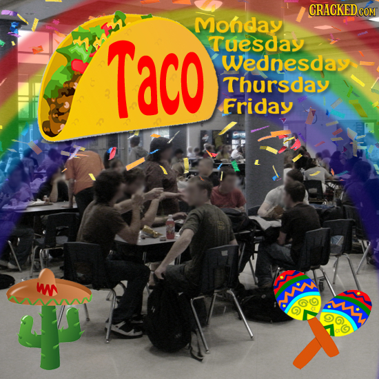 CRACKEDCON Mohday Taco Tuesday Wednesday Thursday Friday W M AMN OC