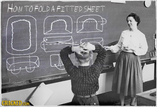 How TOFOLD A FITTED SHEET
