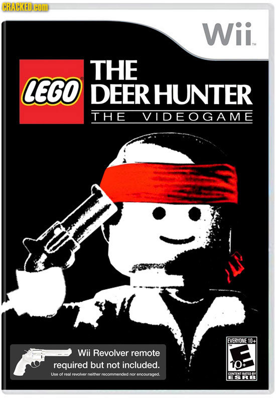 HRACKED.COM Wii THE LEGO DEER HUNTER THE VIDEOGAME EVERYONE 10+ Wii Revolver remote required but not included. 10 Use of roal Lreolyer neither rrecomm