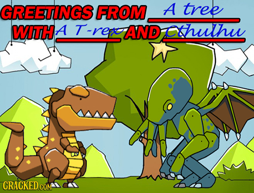 GREETINGS FROM A tree WITH A T -rere AND cthuthu CRACKEDco COM