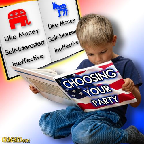 k*** Money Like Money Like Self-Intereste Self-interested Ineffective Ineffective CHOOSING YOUR PARTY CRACKEDCON