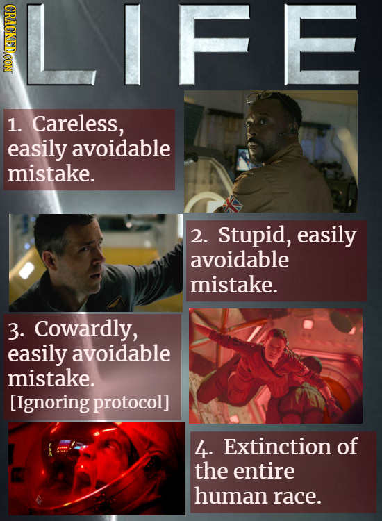 LIFE CRACKED COM 1. Careless, easily avoidable mistake. 2. Stupid, easily avoidable mistake. 3. Cowardly, easily avoidable mistake. [Ignoringprotocol]