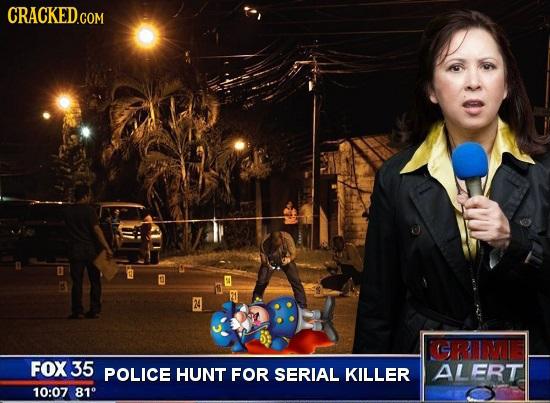 24 FOX 35 POLICE HUNT FOR SERIAL KILLER ALERT 10:07 81