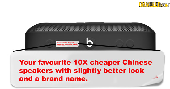 CRACKEDCON wwwwwwwwwowwwwwwwowowwwww Your favourite 10X cheaper Chinese speakers with slightly better look and a brand name.