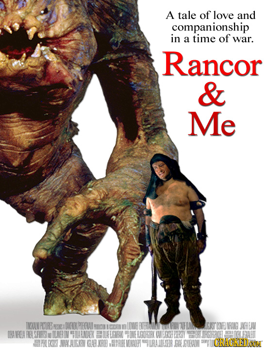 A tale of love and companionship in a time of war. Rancor & Me TNSKAINIPILOURES FRIG OENDV/POERHI LDWVE ENTERILWI ADE GAT ISNEES OO INRONG JAFHEJAN OA