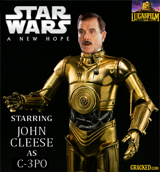 STAR LUCASFILM WARS oudc A NEW HOPE STARRING JOHN CLEESE AS C-3PO