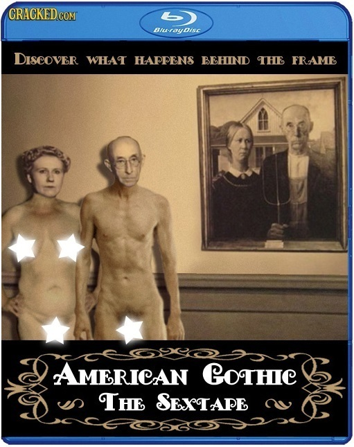CRACKEDCON Biu-toydisc DISCOVER WHAT HAPPENS BEHIND tHE FRAME AMERICAN GoTHIC The SETAPE