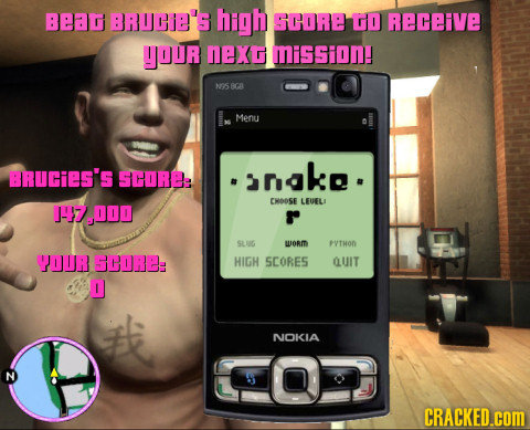 Bear BRUCE'S high SCORE TO Receive YOUr NeXG MiSSion! Ms BCA Menu BRUCiES'S SCOREA anak. CHOOSE LEUFLI 147000 SLUG woRm PTHOD YOUR GCORE: HIGH SCORES