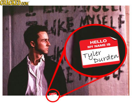 CRAGKEDCON UKE MSE1F HELLO IS MY NAME Tyler Durden