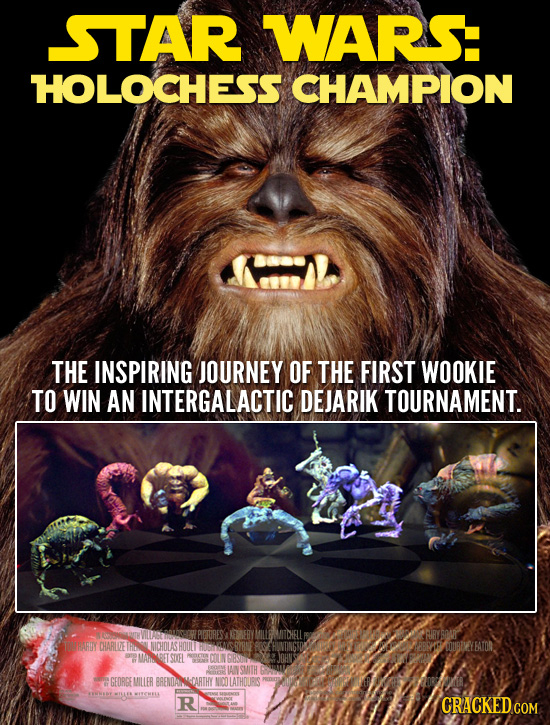 STAR WARS HOLOCHESS CHAMPION THE INSPIRING JOURNEY OF THE FIRST WOOKIE TO WIN AN INTERGALACTIC DEJARIK TOURNAMENT. CHARLZE LNCHOLASHOUL WOUBEVEYBATOR