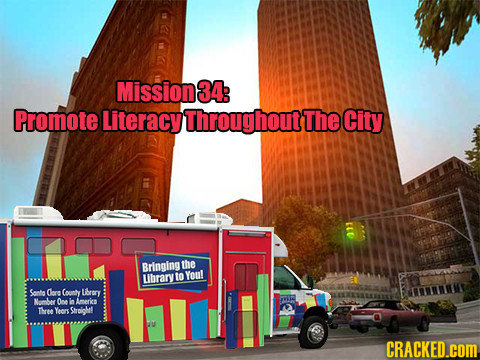 Mission 34: Promote Literacy Throughout The City Britnging the Lbrary to Youl Sonta Clore County Lbrory Mume Ooe o Americs Mene Yeors Stroiohe CRACKED
