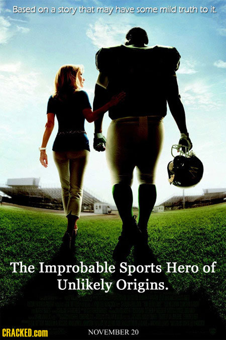Based on a story that may have some mild truth to it The Improbable Sports Hero of Unlikely Origins. CRACKED.COM NOVEMBER 20