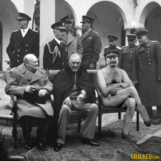 20 Famous Photos Improved With Nudity