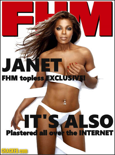 JANET FHM topless EXCLUSIVE! IT'S ALSO Plastered all over the INTERNET CRACKED HOM
