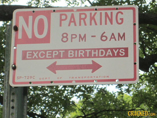 21 Rules We Should Suspend/Enforce One Day Each Year
