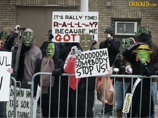 CRACKED COM IT'S RALLY TIME! R-A-L-LWY? BECAUSE WE GOT DOO00000H SOMEBOD STOP US! D WN Ws TH S SOR OF THING OCCUDY