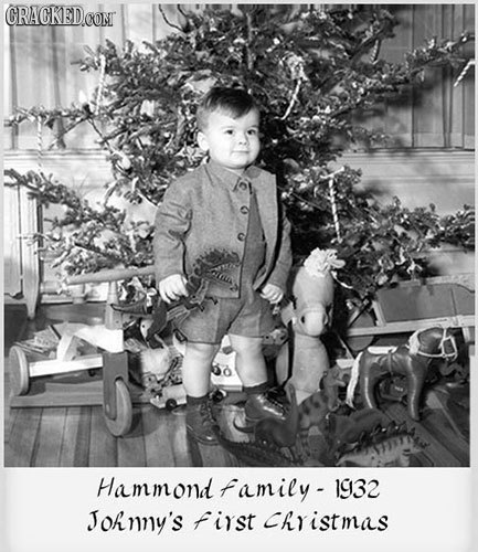 CRACKEDOON Hammond family- 1932 Johmy's first Christmas