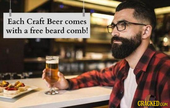 Each Craft Beer comes with free beard comb! a
