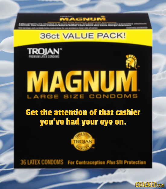 MACNEN 36ct VALUE PACK! TROJAN PEIN LASTLE CONDONS MAGNUM LARGE SIZE CONDOMS Get the attention of that cashier you've had your eye on. AS7A0 TROLAN 36