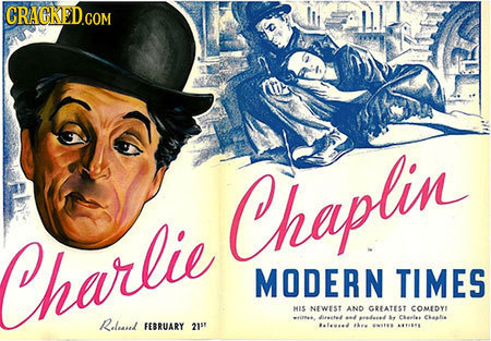 Chaplin Charlie MODERN TIMES MIS NEWEST AND GREATEST oMEDYE Releael re les Cealie FEBRUARY 21s1