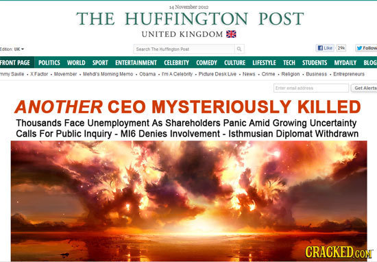 14 Novembeea THE HUFFINGTON POST UNITED KINGDOM S Seaneh Te Huffington Pnst tte o FolOn FRONT PAGE POLITICS WORLD SPORT ENTERTAINMENT CELEBRITY COMEDY