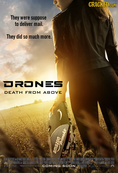 CRACKEDCON They were suppose to deliver mail. They did SO much more. DRONES DEATH FROM ABOVE uopwin Drimeair SOON 4