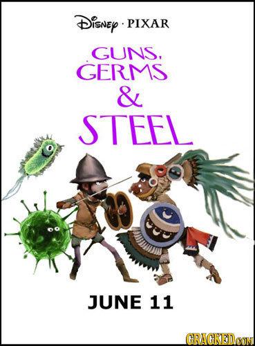 Disney PIXAR GUNS. GERMS & STEEL JUNE 11 GRACKEDCON