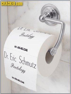 CRACKED.COM L Lir mely LTIsrrrsr tel 685.483-2346 Dr Eic Schmutz Proetology M